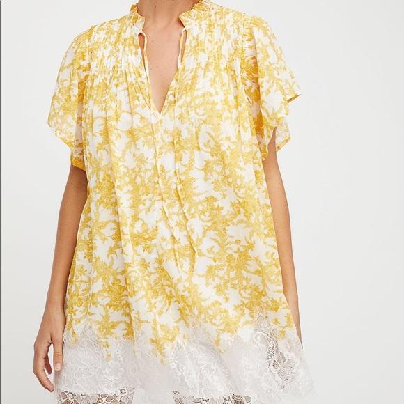 Free People Marigold Printed Mini Dress Size M